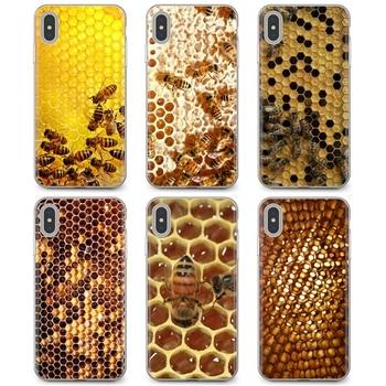 Golden honeycomb honeybee, funda de teléfono para Xiaomi de silicona Popular, Redmi 4A 7A S2 Note 8 3 3S 4 4X 5 Plus 6 7 6A Pro Pocophone F1