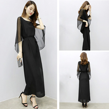 Spring and summer new style Korean chiffon dress Slim-fit temperament lady Large size
