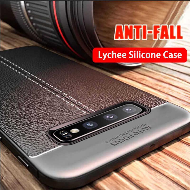 Роскошный мягкий чехол из искусственной кожи для samsung Galaxy S10 S9 S8 Plus S10E Lite, противоударный чехол для samsung Note 9 8, силиконовый чехол