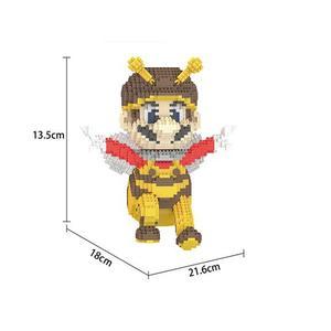 Image 4 - Bloques de construcción de figuras de super Mario bros para niños, juguete de piezas de bloques de Lepining, Wario, Yoshi, Waluigi, Luigi, mini micro diamante