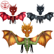Hot Cosplay Dragon costume mask wing Adult halloween costumes for women men adult Dinosaurio latex masks Party