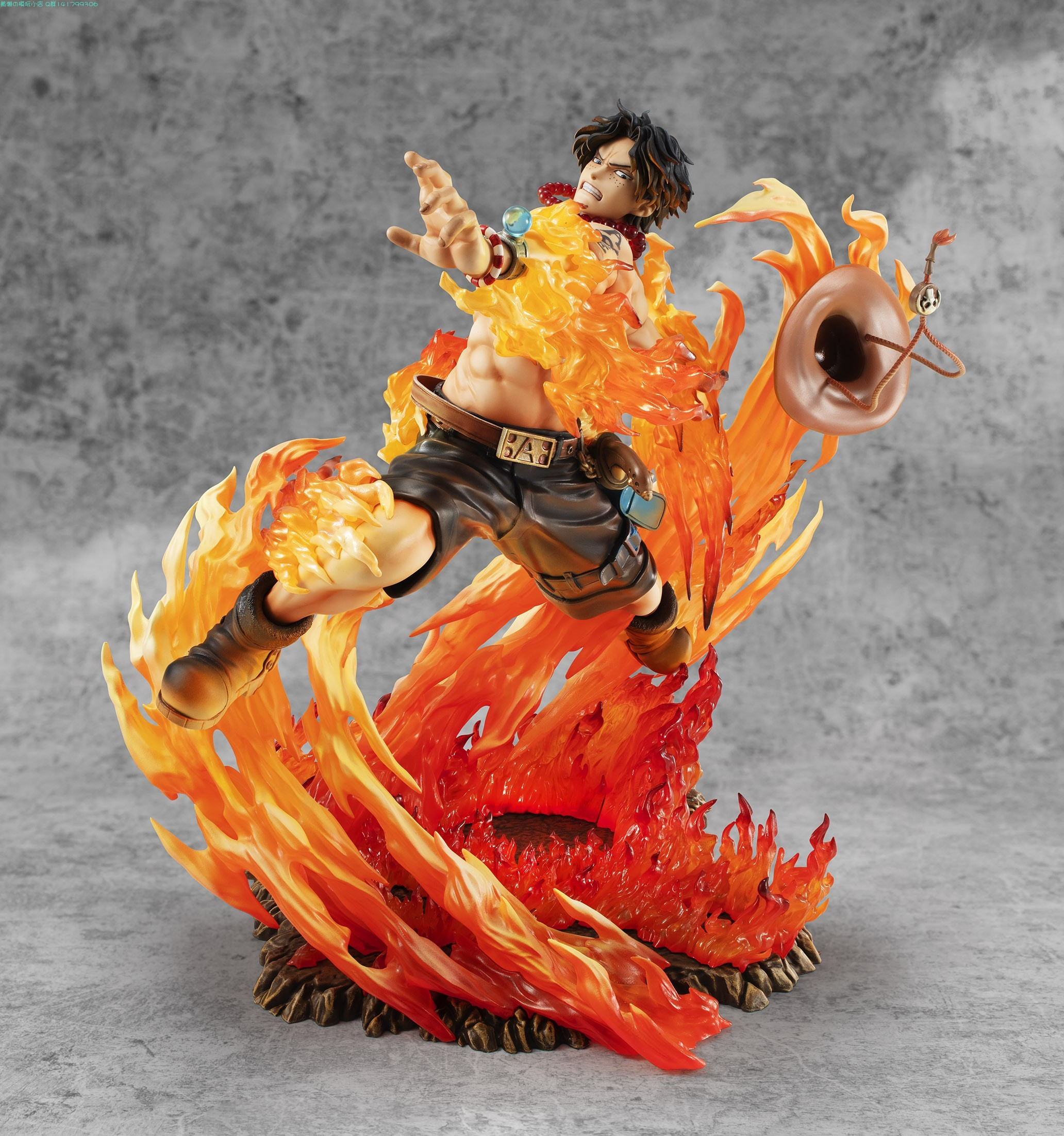 New 25cm One Piece Ace Fire Fist PVC Action Figure One Piece Anime Portgas·D· Ace 15th Anniversary Max Collection Figurine Toy