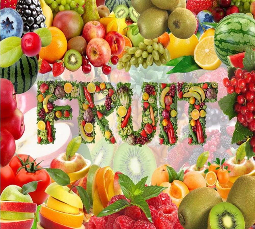 Dropship Custom 3d Mural Wallpaper Fresh Fruits Ve Ables