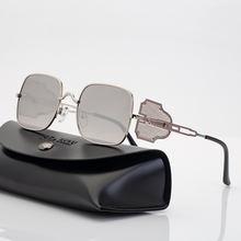 2021new в стиле панк Модные солнцезащитные очки ретро для мужчин