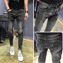 Autumn New Jeans Men Stretch Slim Fashion Washed Retro Casual Denim Trousers Man Streetwear Wild Hip Hop Pants