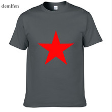 Red Star New Fashion New Fashion Men's T-shirts Cotton T Shi