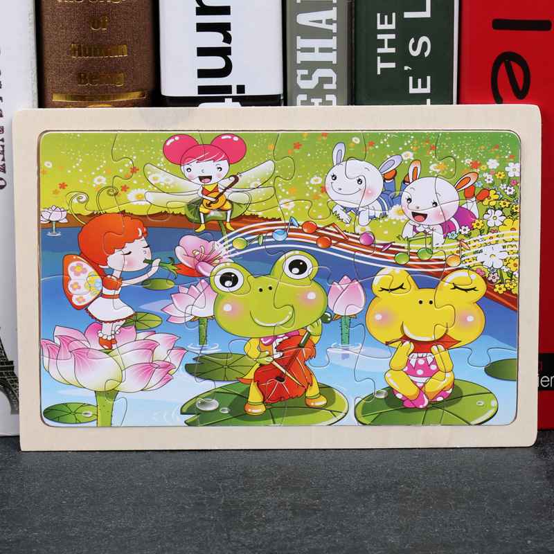 24 Slice Wood Puzzles Children Adults Vehicle Puzzles Wooden Toys Learning Education Environmental Assemble Educational Games 14
