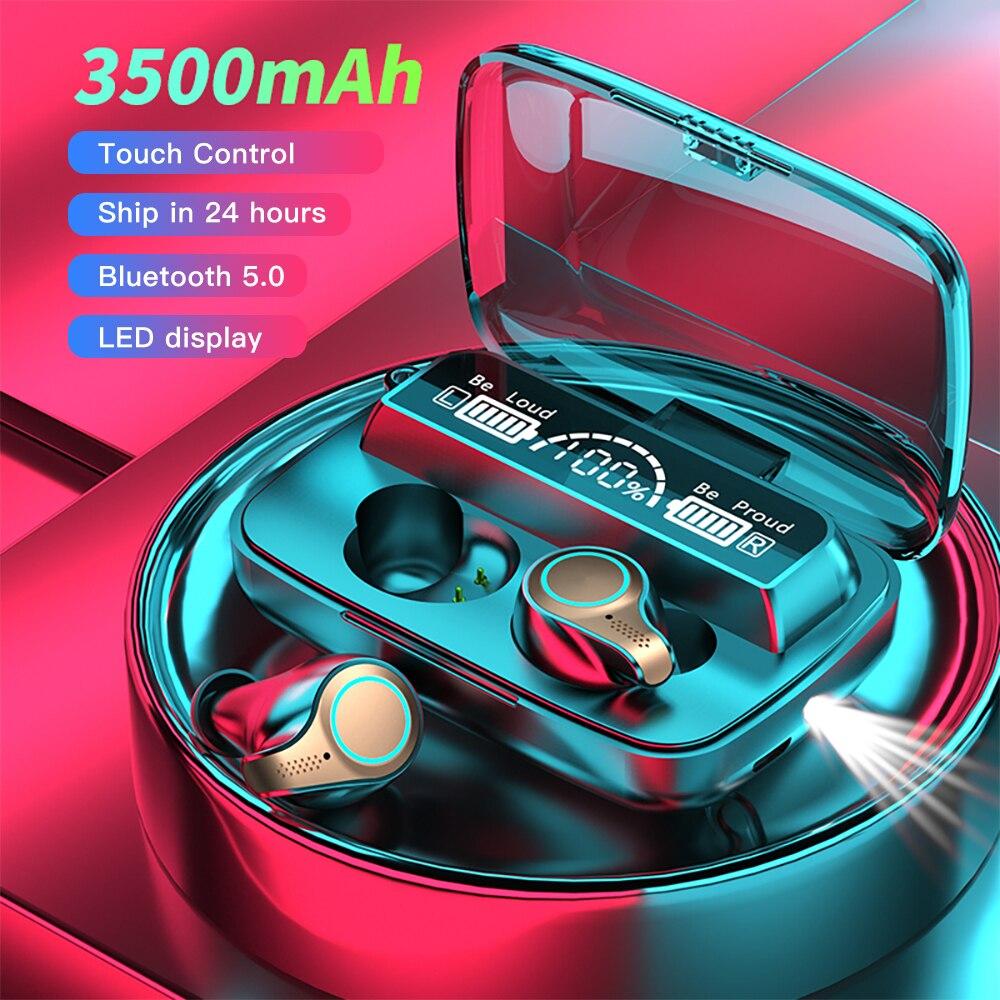 F9 m18 tws fones de ouvido bluetooth sem fio earbud à prova dwaterproof água esportes controle toque fone iluminação caso carregamento estéreo