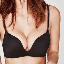 FINETOO yumuşak dikişsiz sütyen kadın A B fincan yukarı itin iç çamaşırı kadın kablosuz sütyen küçük göğüs 6 renkler ayarlanabilir sütyen