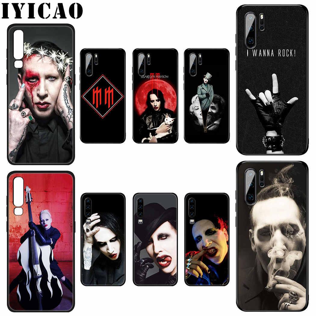 Marilyn Manson Molle della Cassa Del Silicone per Huawei P Smart Z Più 2019 P30 P20 P10 Lite Pro Copertura Del Telefono