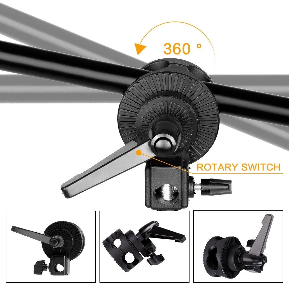 Kit de accesorios de iluminación continua para Softbox de estudio fotográfico profesional con 3 uds. Softbox, LED Blub, soporte para trípode - 3