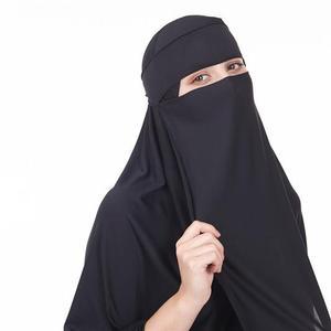 Image 5 - 2PCS מוסלמי נשים ניקאב ארוך Khimar חיג אב צעיף צעיף עמירה Abaya האסלאמי Colthes תקורה תפילה ערבית בגד + צעיף הבורקה העבאיה