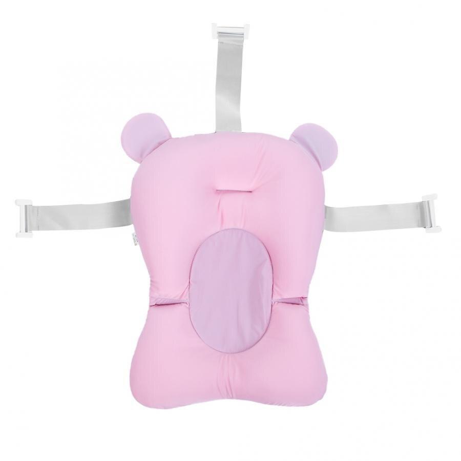 Мягкий коврик для ванной для новорожденного малыша, нескользящий коврик для ванной, подушка для ванной, надувная подушка - Цвет: Pink