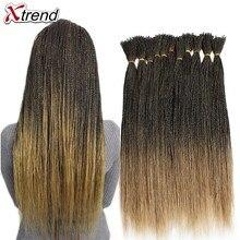 Xtrend микро Сенегальский твист крючком коса синтетические волосы для парика 22 дюймов 100 прядей в упаковке Омбре черный коричневый твист косы