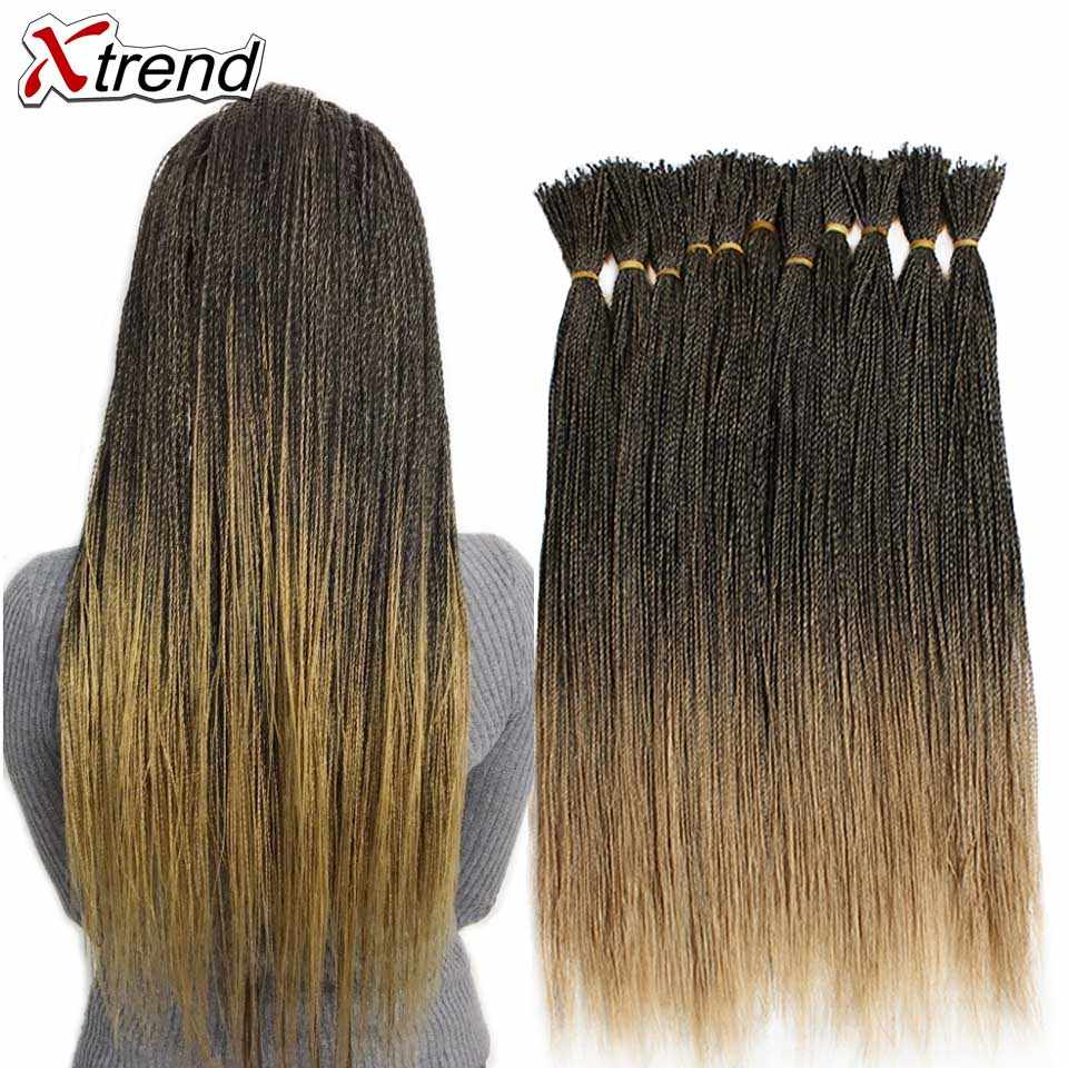 Xtrend Micro Senegalese Twist Crochet Braid Synthetic Hair For Wig 22 inch 100strands Per Pack Ombre Black Brown Twists Braids