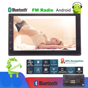 Upgraded 2 DIN Android 9.0 Radio Double Car Stereo GPS Navigation Bluetooth WiFi USB Head Unit Driving Speed Display