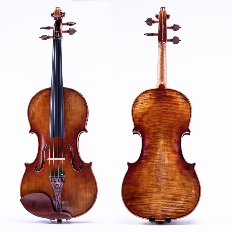 Taishi carved professional violin 4/4 Stradivari 1716 violin with violin case gift
