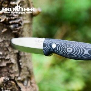 Image 3 - [אח F005] 61HRC D2 להב קבוע להב סכין Bushcraft סכינים ישר טקטי ציד קמפינג באיכות גבוהה EDC כלי