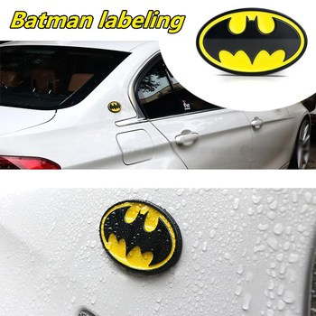 1 Pcs 3D Metal Batman Logo Emblem Stickers Auto Car Emblem Badge Sticker Car Styling Accessories Motorcycle Tuning Car-Styling 2018 new car sticker cool cute big gecko 3d car sticker car styling decal emblem badge car styling accessories