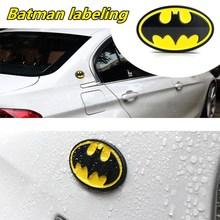 1 adet 3D Metal Batman logosu amblemi çıkartmaları oto araç amblemi rozeti Sticker araba Styling aksesuarları motosiklet Tuning araba styling