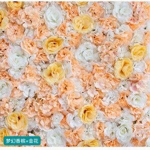 Image 5 - 60X40CM الاصطناعي وردة من الحرير جدار الزفاف عيد الميلاد الديكور الحرير الكوبية الزفاف الديكور خلفية