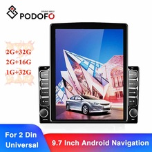 Car-Radio 2din Android Podofo-9.7--Inch Mp5-Player Fm-Receiver Universal for HD