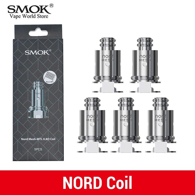 Bobine de remplacement d'origine SMOK Nord pour Cigarette électronique à dosette Nord Pod RPM40 avec bobine 1.4ohm régulière 0.6ohm 5334