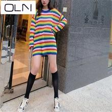 OLN dress Korean vestidos  summer new arrival wholesale Casual temperament girlfriends sweater tops plus midi