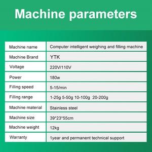Image 4 - YTK 200G Granulat Pulver Füllung Maschine Automatische Wiegen Maschine Mispel Verpackung Maschine für Tee Bean Samen Partikel