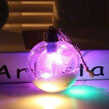 40X Clear Plastic Christmas Balls Craft Ball Sphere Baubles Xmas Tree Ornament цена