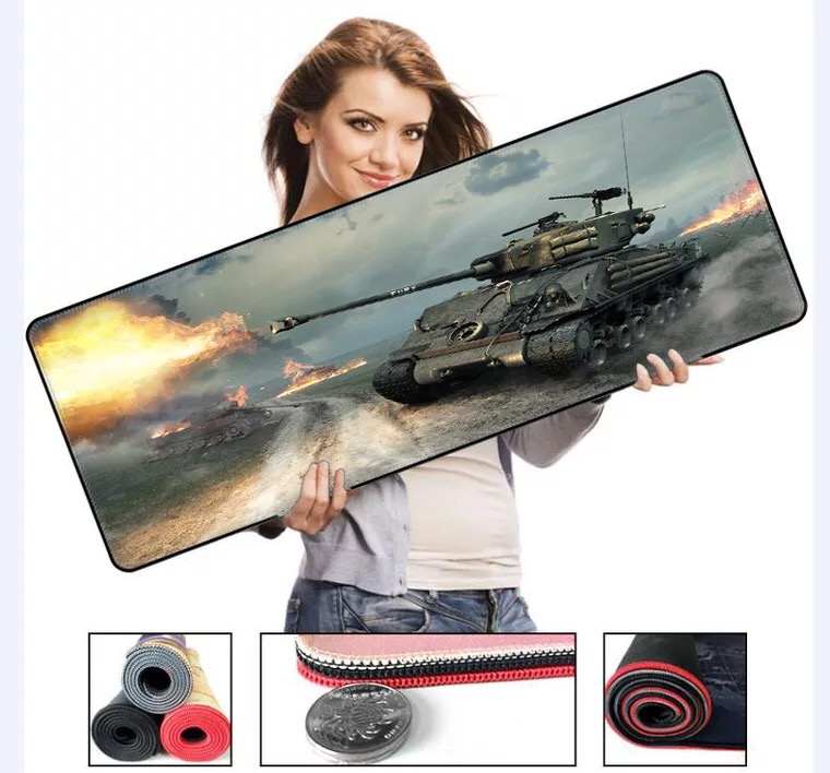 700*300*2mm Size Military Tank Series High Speed Mousepad Large Mouse Pad Lockedge Mouse Mat Keyboard PC GAME Mat For Gaming