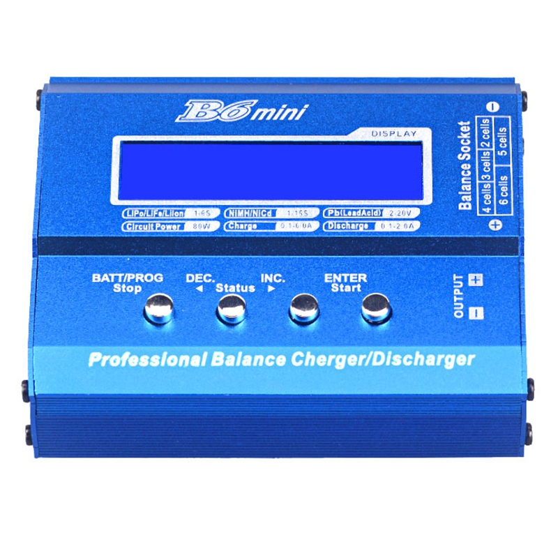 80W B6 MINI RC Battery Balance Charger Lithium Battery Intelligent Drone Balance Charger фото