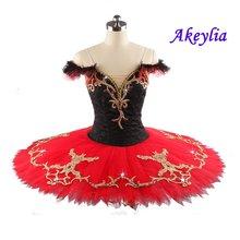Женский балетный костюм пачка don quixote черный красный Профессиональный