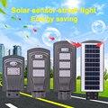 60 Вт Солнечный уличный свет с датчиком движения водонепроницаемый светодиодный солнечный свет наружная светодиодная уличная лампа освеще...