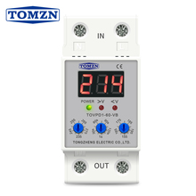 Relay Protector Current-Protective-Device Din-Rail Over-Under-Voltage Led-Display Adjustable