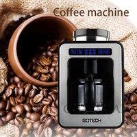 220 v/600 w casa automática americano máquina de café pequena moagem recém cozida uma máquina de café escritório gotejamento máquina de café