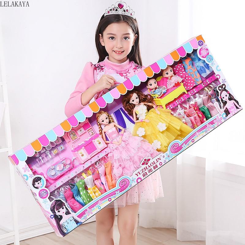 Enfants semblant jouer dessin animé jeu de rôle mode intérieur beau jeu habiller créatif Mini princesse filles beauté mode jouets ensemble