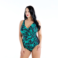 2019 New Women Sexy One Piece Swimsuit Plus Size Floral Print Swimwear Backless Top Cheap Bathing Suit 4XL 8XL