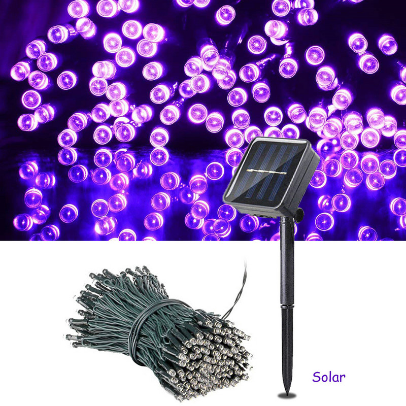 200 Led Solar Garland String Fairy Lights Outdoor 22M Solar Powered Lamp for Garden Decoration 3 Mode Holiday Xmas Wedding Party