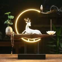 Палочки для благовоний zen backflow курильница с лампой белый