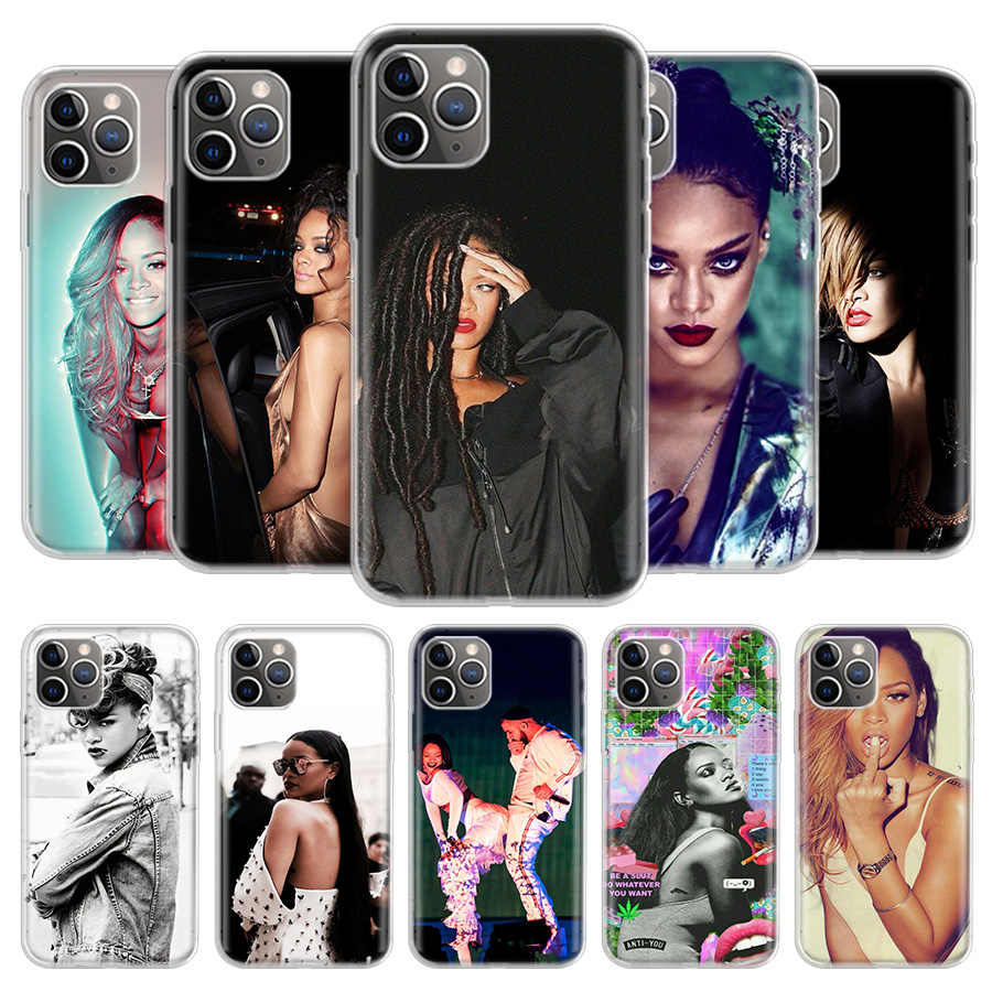 Rihanna Telefoon Case Voor Iphone 11 Pro 7 6X8 6S Plus Xs Max + Xr 5S elf Art Tpu Cover Coque Capa Shell