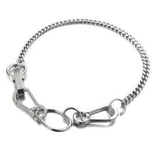 AENSOA Punk Kubanischen Halsband Halskette Vintage Chunky Silber Farbe Schnalle Halsband Halskette für Frauen Mode Halsketten Schmuck Geschenk