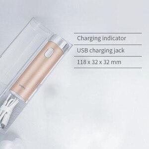 Image 5 - Xiaomi afeitadora Smate con cabezal de corte interno de tres hojas, cuchilla Flexible, de bajo ruido, en húmedo y seco, con carga USB
