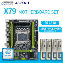 ALZENIT X79 Motherboard Set X79M-CE5 MATX With Intel Xeon E5-2640 2.5GHz CPU 4x4GB \u002816GB\u0029 DDR3 1333MHz ECC/REG RAM