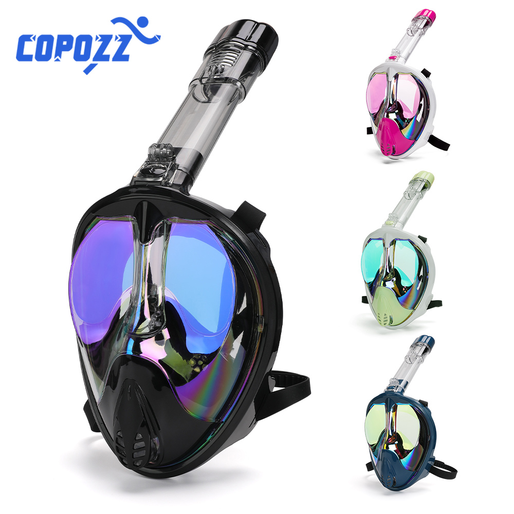 2020 NEW Full Face Diving Mask Underwater Scuba Anti Fog Goggles Wide View Snorkeling Mask Swimming Diving Equipment For Adult