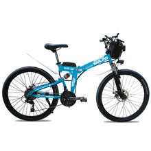 "Free Shipping 500W 13AH Foldable E-bike 26 #8243 Folding Electric Bike 26 inch Folding Electric Mountain Bike E-MTB Bicycle cheap SMLRO 351 - 500w Lithium Battery 26"" 30-50km h Brushless Carbon Steel 31 - 60 km MX300 500 13"