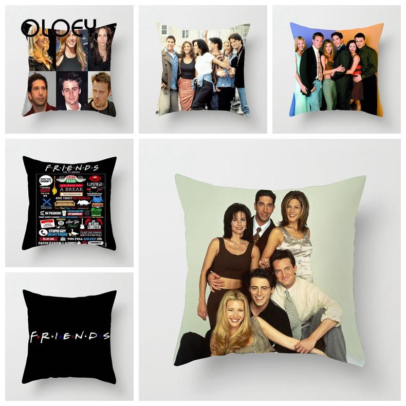 ZENGIA Friends TV Show Pillow Case 45x45cm Polyester Friends Pillow Case Throw Pillow Case Home Hotel Decoration Pillow Case   .