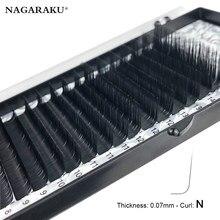 Nagaraku nova chegada n curl m onda falso vison individual cílios maquiagem falsos cílios magnéticos extensão cílios