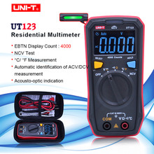 Display tascabile, multimetro digitale UT123, multimetro residenziale, tensione continua, temperatura, Tester NCV