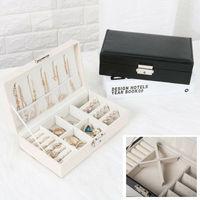 2020 Universal Schmuck Organizer Display Reise Schmuck Fall Boxen Tragbare Schmuck Box Taste Leder Lagerung Jewelers auf